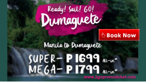 2Go Travel Manila to Dumaguete Promo Fare and Vice Versa
