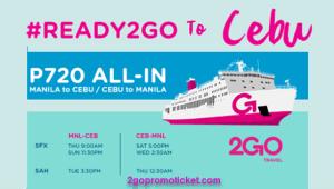 2Go Travel P720 All In Promo Fares Manila to Cebu/ Vice Versa