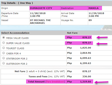2go-sale-ticket-dumaguete-to-manila