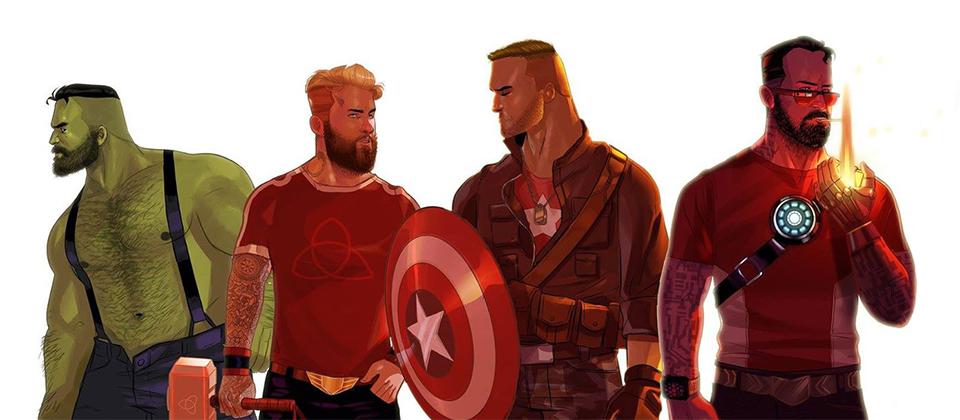 Les Avengers à la mode hipster