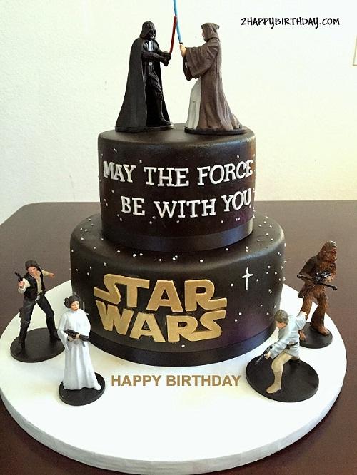 Write Name On Star Wars Birthday Cake 2happybirthday
