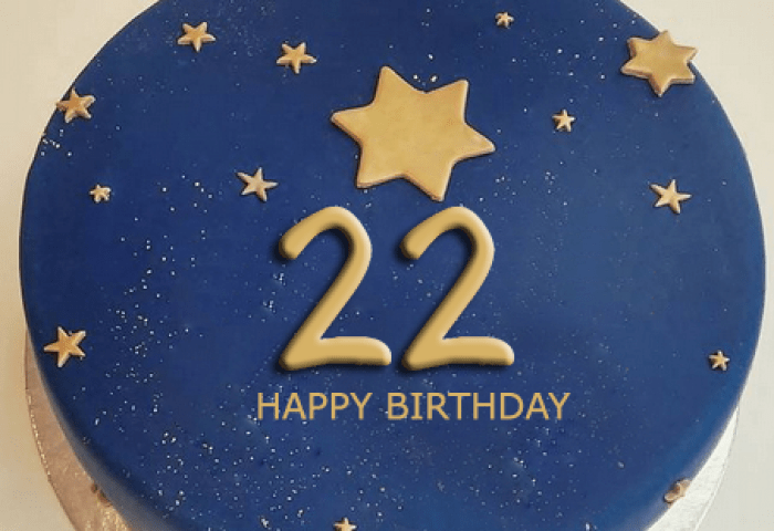 22nd Birthday Cake With Name 2happybirthday