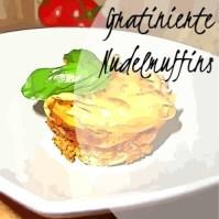 Gratinierte Nudelmuffins