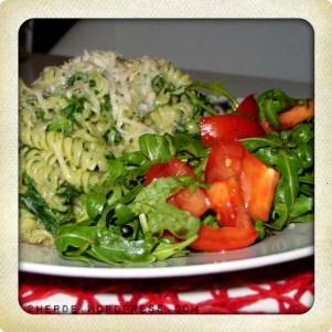 Pasta mit Blattspinat & Gorgonzolasauce