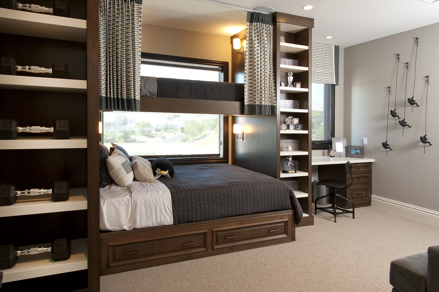 Hamptons Inspired Luxury Home Boys Room Robeson Design ... on Bedroom Ideas For Guys  id=77847