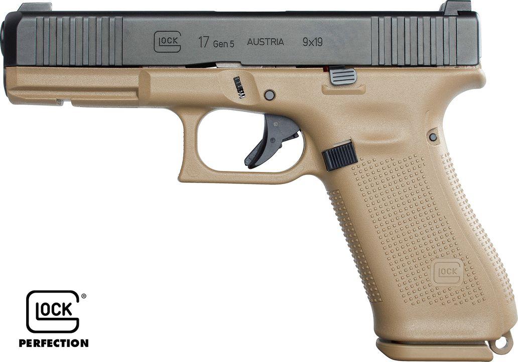 PSA Glock 17 Gen 5 FR réel, vu du côté gauche (source image Starik forum Glock).