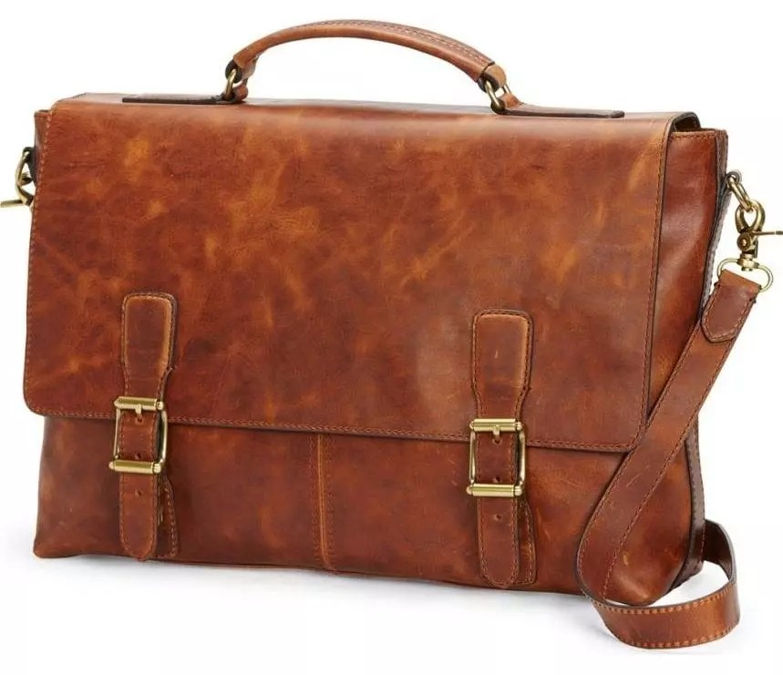 Soft Leather Briefcase Men