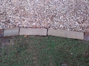 new cut border stone edging