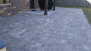 gray paver patio