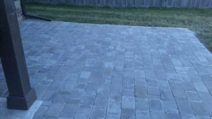gray pavers