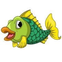 Раскраска рыба окунь распечатать