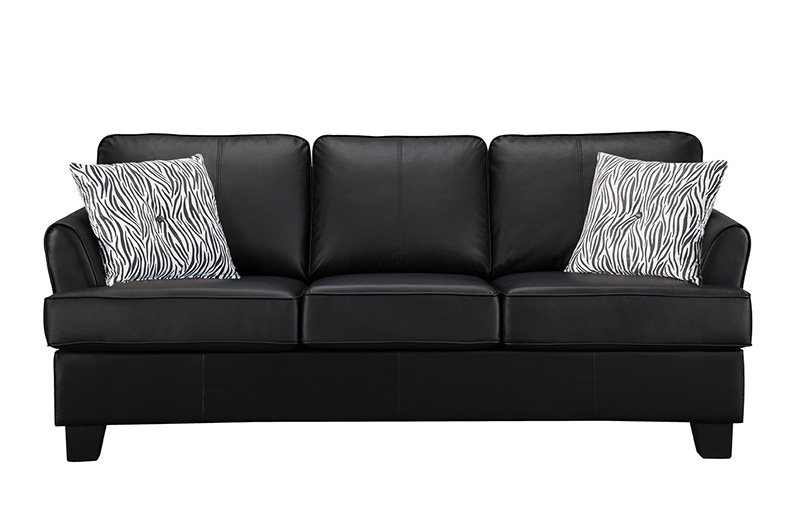 alexandria leather sleeper sofa black queen 2kfurniture