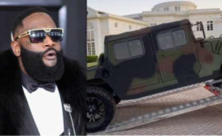 American rapper, Rick Ross has bought himself a customized Military Maybach Humvee.