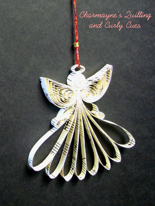 Charmaynes Quilling And Curly Cues Angel Ornaments