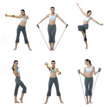 Упражнения с резиновым жгутом для мужчин и женщин