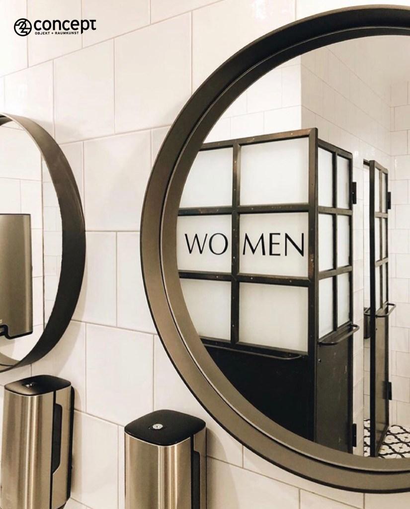 Restaurant-WC mit exklusiven Einrichtungsgegenständen