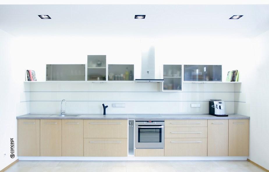 helle offene Küche im modern Style im Wohnraum