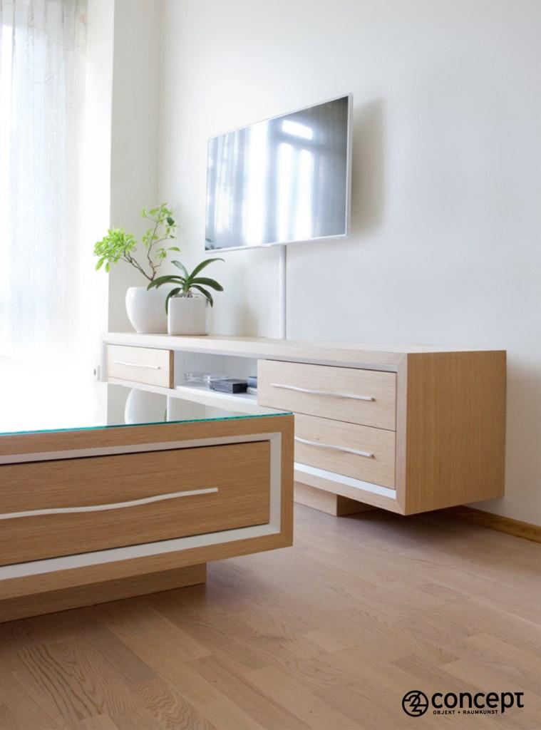 Möbel für offenen Wohnraume nach Maß im Detail