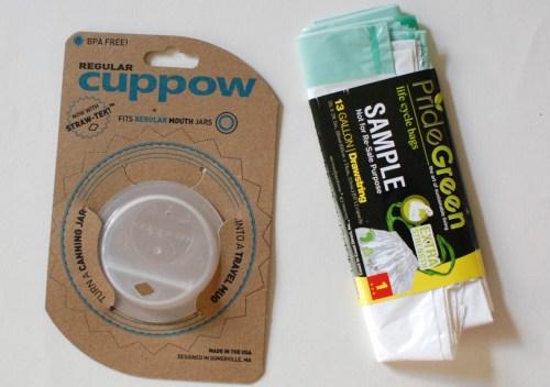 Cuppow & a trash bag.