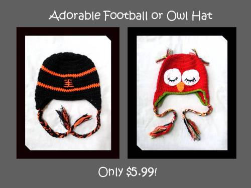 Football and Owl Hats