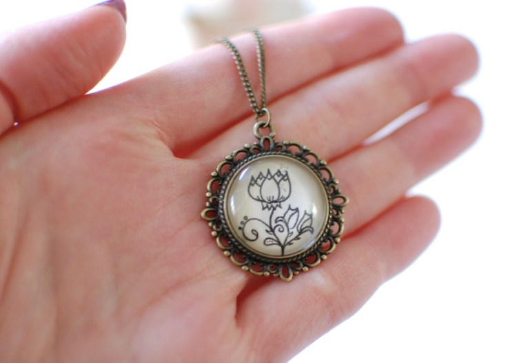 Eternal Girl Hand Drawn Necklace Review & Giveaway! Ends 3/15/14