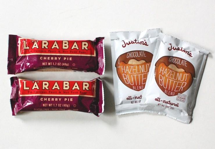 Larabar and Justin's Hazelnut Butter Blend