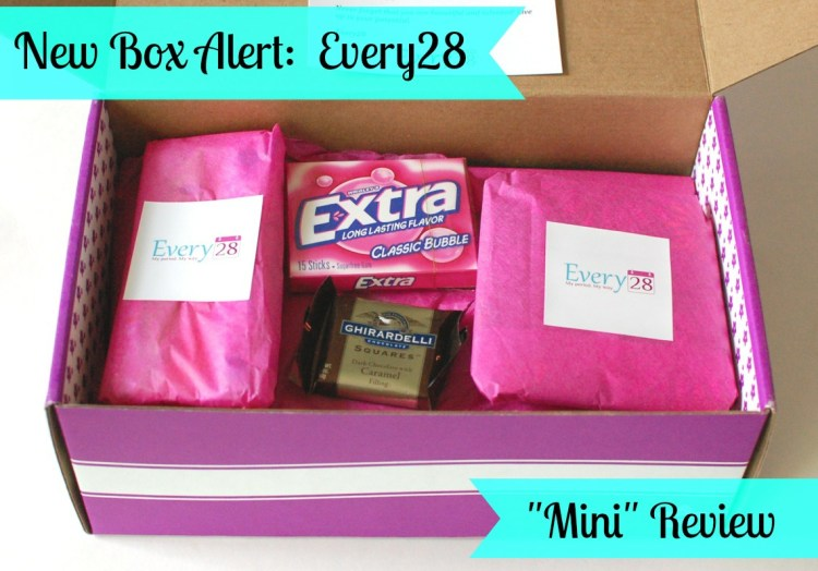 """Every28 Mini Review — New """"Time of the Month"""" Box"""