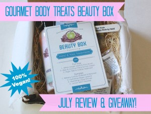 Gourmet Body Treats Vegan Beauty Box Review & Giveaway! Ends 7/25/14