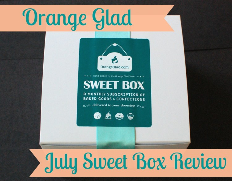 Orange Glad Sweet Box July 2014 Review & Discount Code