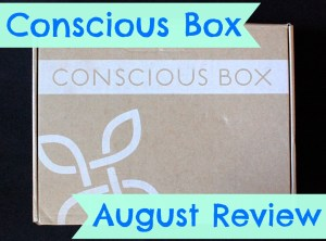 Conscious Box August 2014 Review & Code for FREE Box!