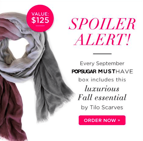 POPSUGAR Must Have Box September spoiler