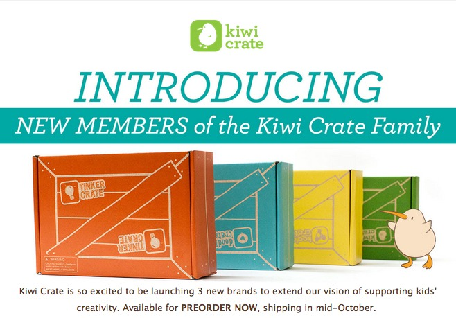 New Kiwi Crate Age-Specific Boxes
