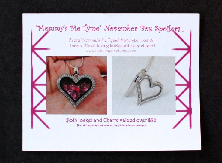 Mommy's Me Tyme November Box Spoilers info card