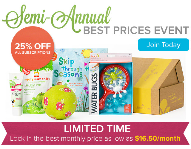 Citrus Lane Best Prices Event - 25% OFF