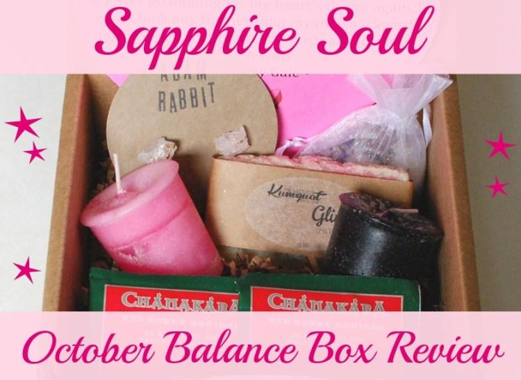 Sapphire Soul October Balance Box review