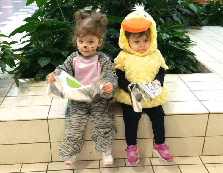 Halloween 2014: A Cat and a Duck Walk into a Mall…