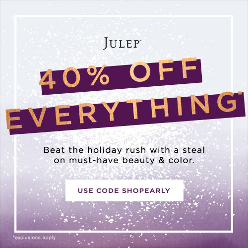 Julep 40% off sale
