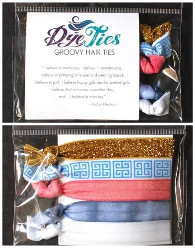 Dye Ties Groovy Hair Ties in package