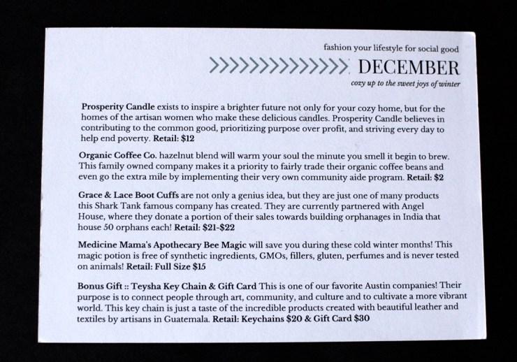 December Hip Humanitarian box