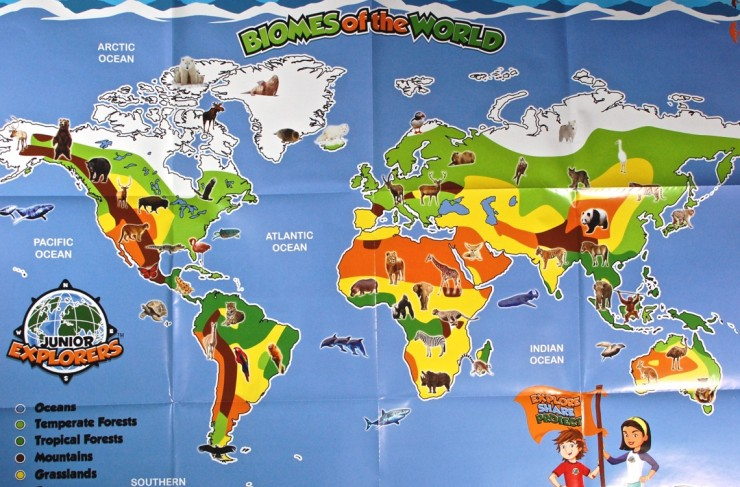 Junior Explorers Biome map