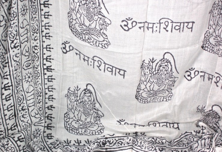 Indian prayer scarf