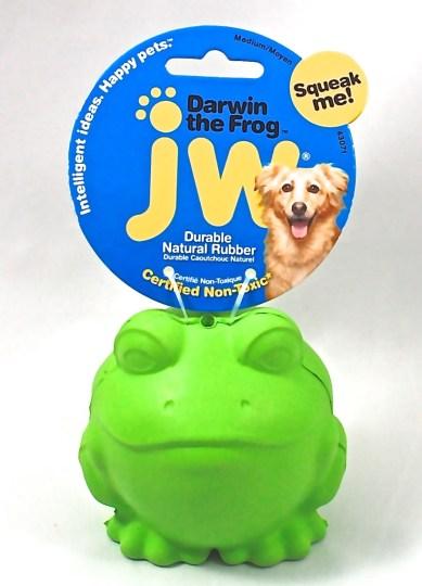 Darwin the frog dog toy