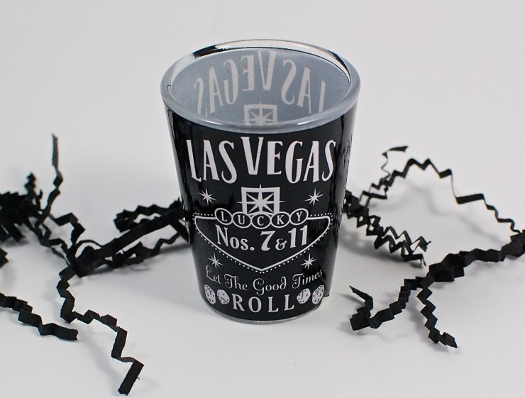 Las Vegas shot glass