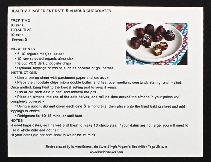 Date & almond chocolates