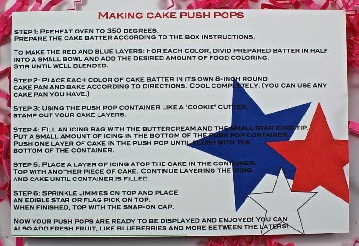 Push pop cupcakes