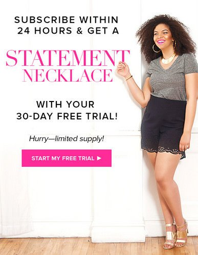 Gwynnie Bee Free Trial & FREE Statement Necklace!