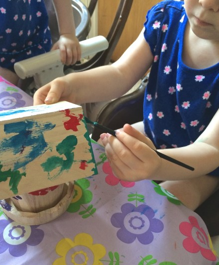 painting fairy house