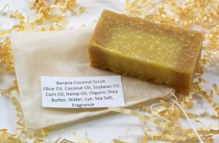 banana coconut soap