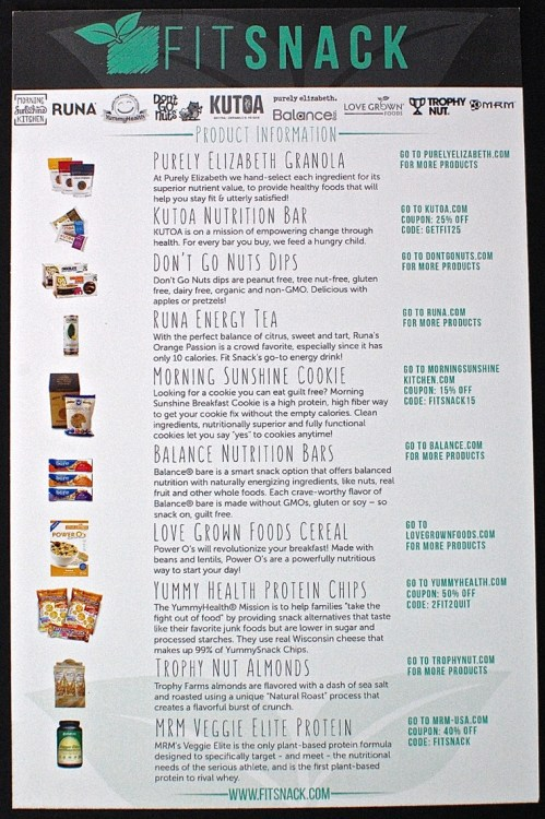 Fit Snack August 2015