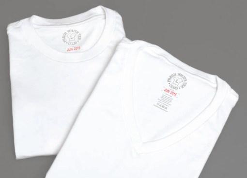 Crew and V-neck white shirts
